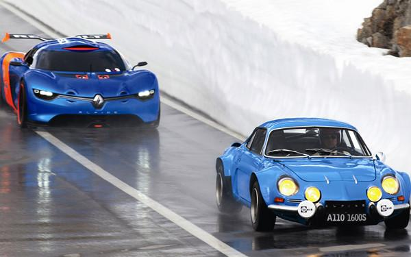 Alpine A110-50概念车虽然采用了部分经典元素,但还是显得未来感十足