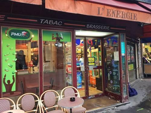 位于巴黎第9区的能量烟草商店