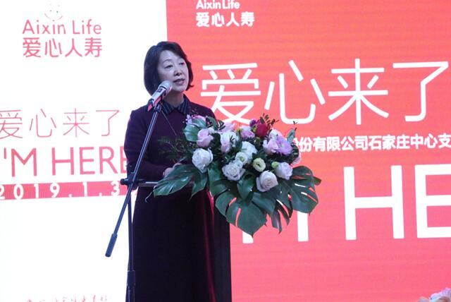 河北省保险行业协会副会长于晶致辞