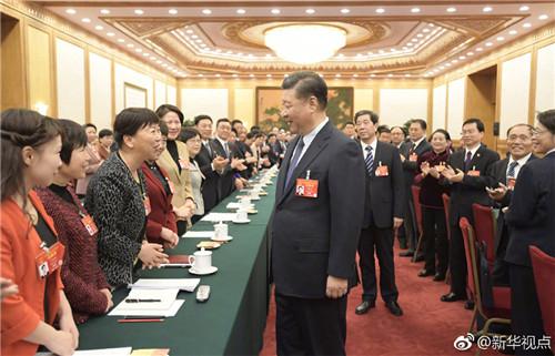 习近平参加河南代表团审议,向全国各族各界妇女致以节日的祝贺