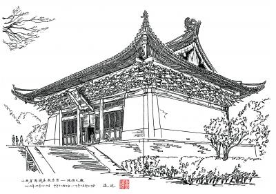 连达用文字搭配157幅精美手绘图,将晋南125处古建之美展现给读者,记录