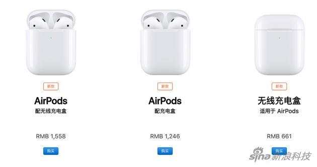 最新的AirPods也降了一点