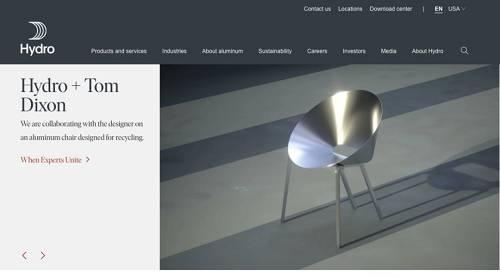 挪威海德鲁公司官网截图