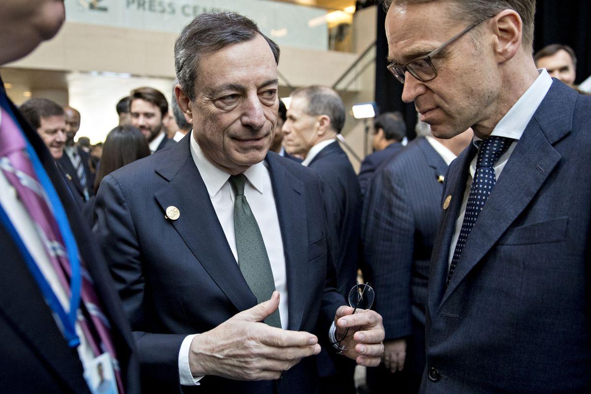 欧洲央行行长德拉基:不会接受在通胀目标上失败