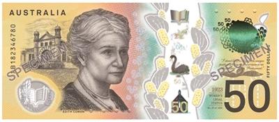 澳大利亚新版50澳元印错一个单词先不改了,继续用呗