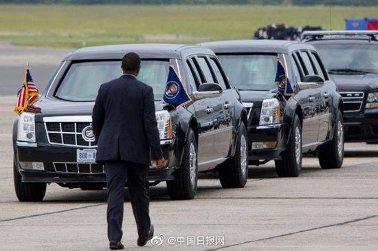 惊险!美国总统特朗普车队遭遇车祸3人受伤