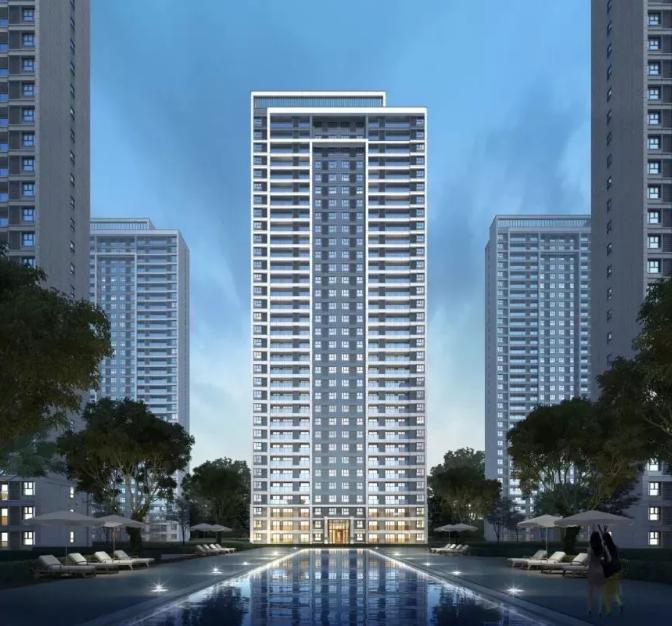 现代建筑电杂�_核心区中央居住区纯新盘首开在即!