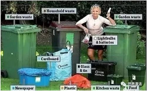 对于分类不合格的垃圾桶,垃圾车拒绝回收,并贴上黄色的纸条,告诉住户此种颜色的垃圾桶只能用来装哪一类垃圾。