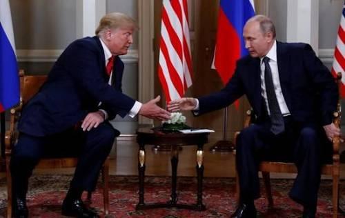 资料图,美俄领导人在芬兰赫尔辛基会晤(图片来源:中新网)