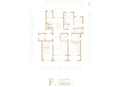 200�O4室2厅2卫户型图