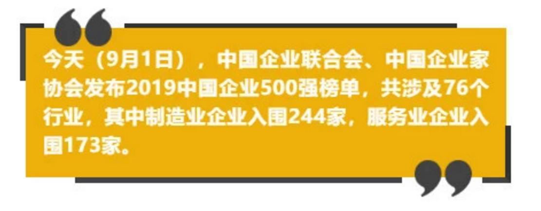 中国企业500强榜单揭晓 中石化中石油国家电网排前三