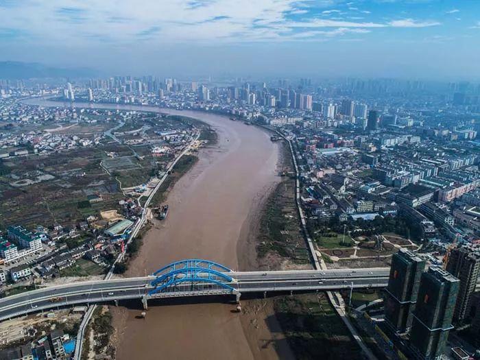 空中俯瞰龙港大桥(2018年12月)