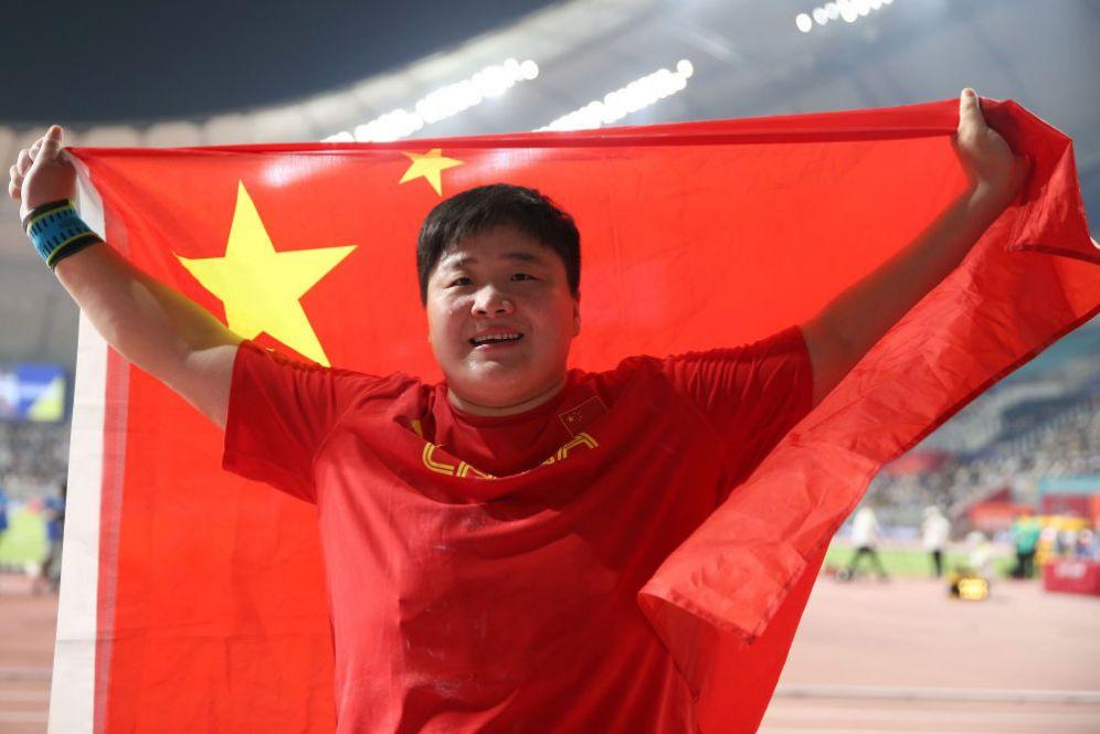 10月3日,巩立姣在第17届田径世锦赛上夺得女子铅球冠军。