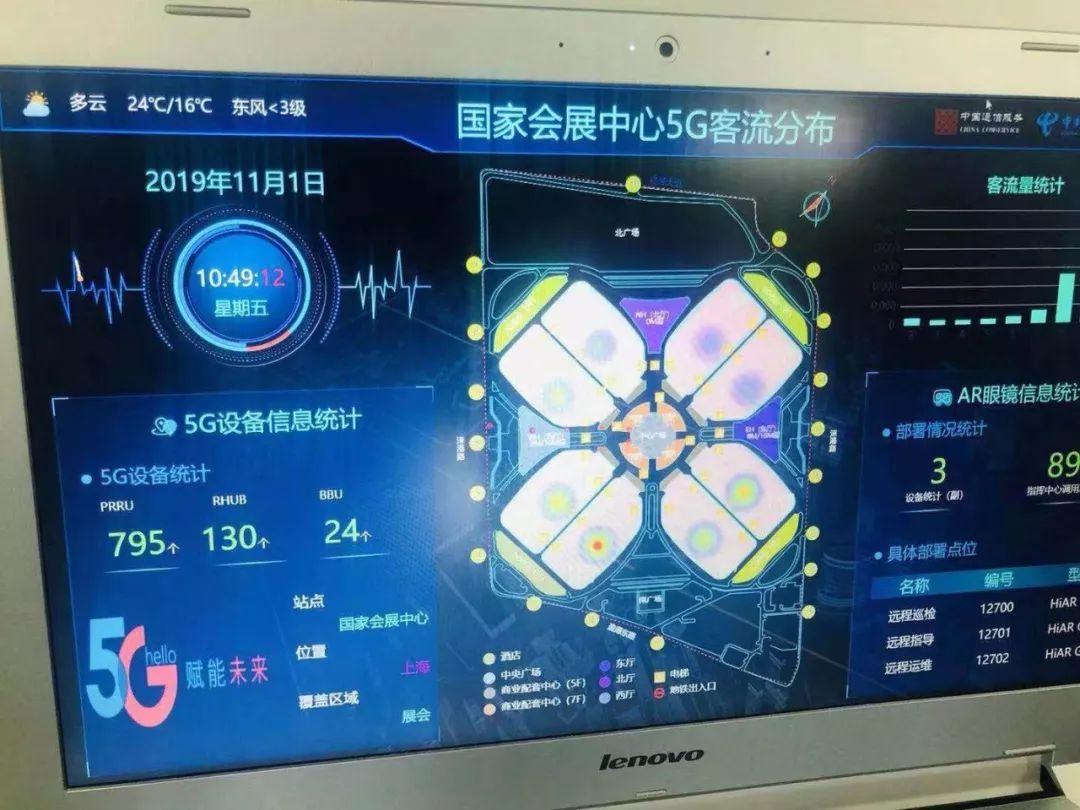 5G信号监控面板 在本届进博会期间,首次设置新品展示发布平台,将有超过50家500强、龙头企业发布新品。 央视新闻新媒体将推出