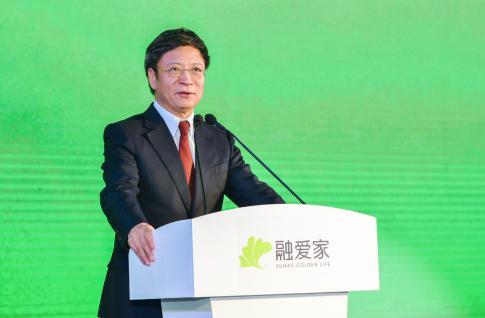 融创中国董事会主席孙宏斌发表致辞