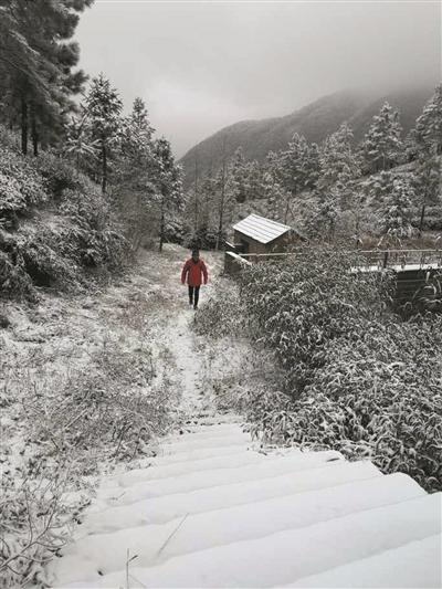 余杭鸬鸟窑头山上的雪