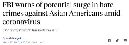 美国广播公司(ABC)3月27日发布相关文章,称新冠肺热疫情导致美国显现大量针对亚裔的轻蔑走为