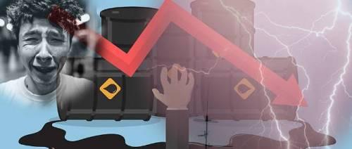 3月,投资者不断见证美股各种暴跌熔断的历史纪录。4月,投资者再次见证了美原油期货跌至负数以及一日三熔断的历史时刻。刚刚,布伦特原油期货跌幅扩大至逾14%,创1999年中以来最低水平。 周一(当地时间)美国5月WTI原油期货盘中重挫至最低-40.32美元/桶,最终收报-37.63美元/桶,为历史上首次收于负值。