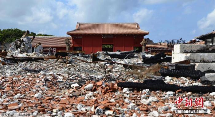 日本首里城火灾过后全面开放 访客可见证重建过程