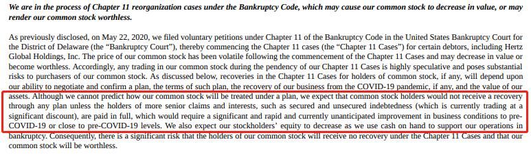 赫兹怪象:一边出售股票筹资 一边提醒投资者可能血本无归