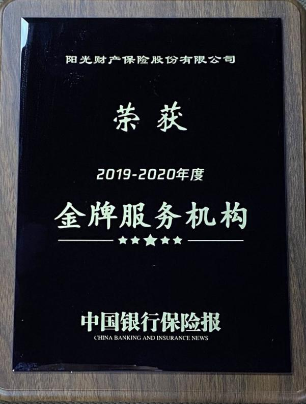 """阳光财险荣获年度""""金牌服务机构""""和""""服务创新优秀案例"""""""