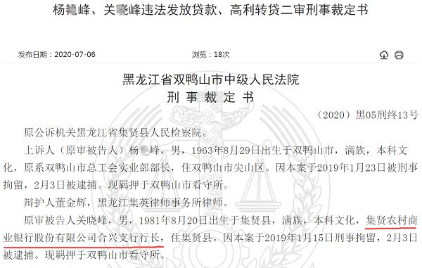 法院判决揭开集贤农商行违规经过,涉事支行长被判刑3年