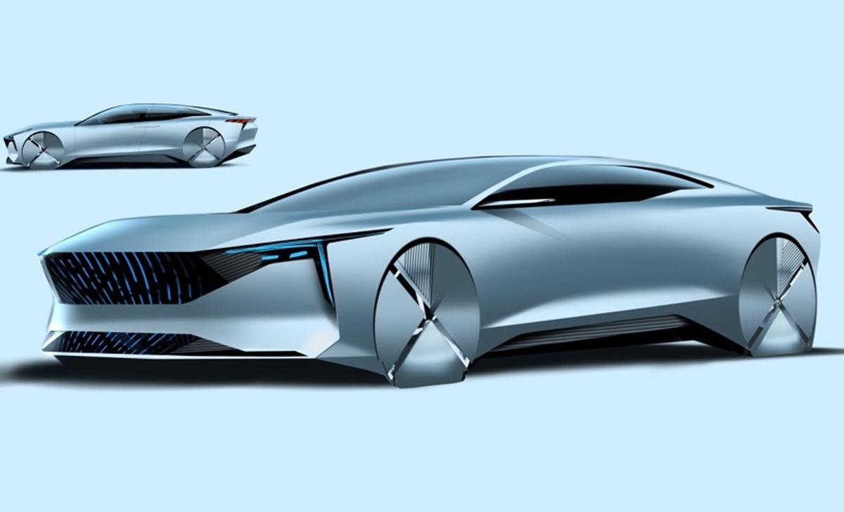 造型极具未来感 一汽奔腾全新概念车设计图曝光