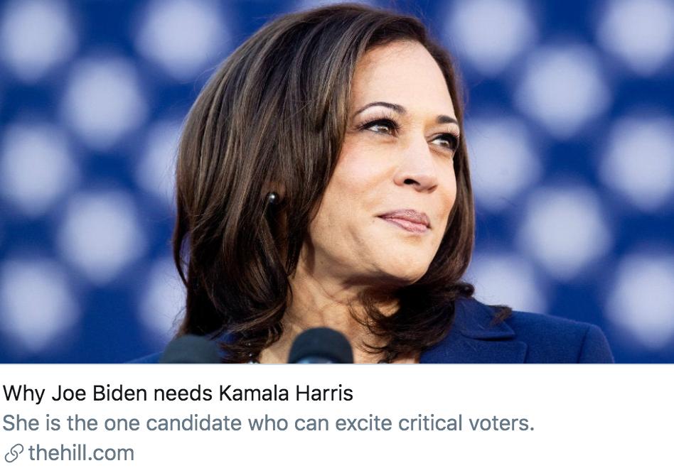 拜登宣布选择少数族裔女性哈里斯作为竞选搭档,四问释疑