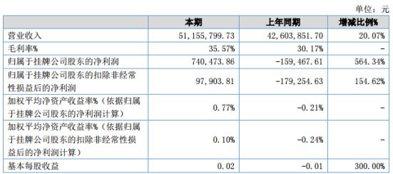 中网信息2020年上半年净利74.05万 期末总资产下滑2.01%