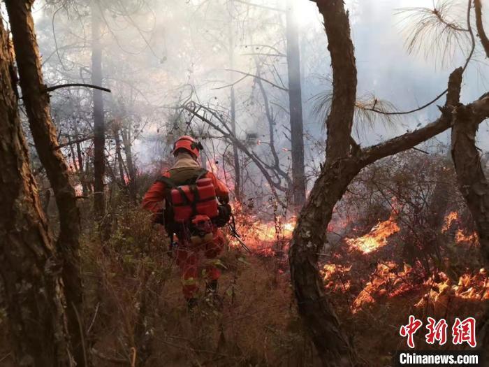 云南大理发生森林火灾 出动直升机参与扑救