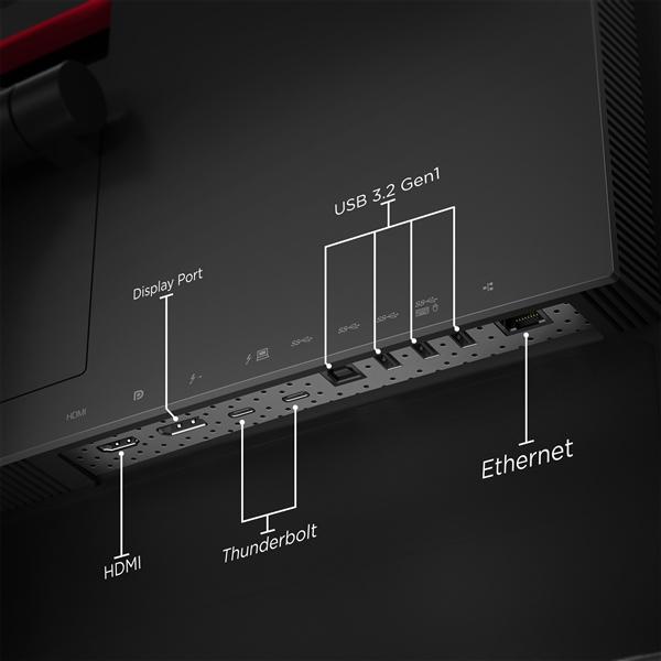 联想发布ThinkVision P40w 5K专业显示器:双雷电4、1.1万元