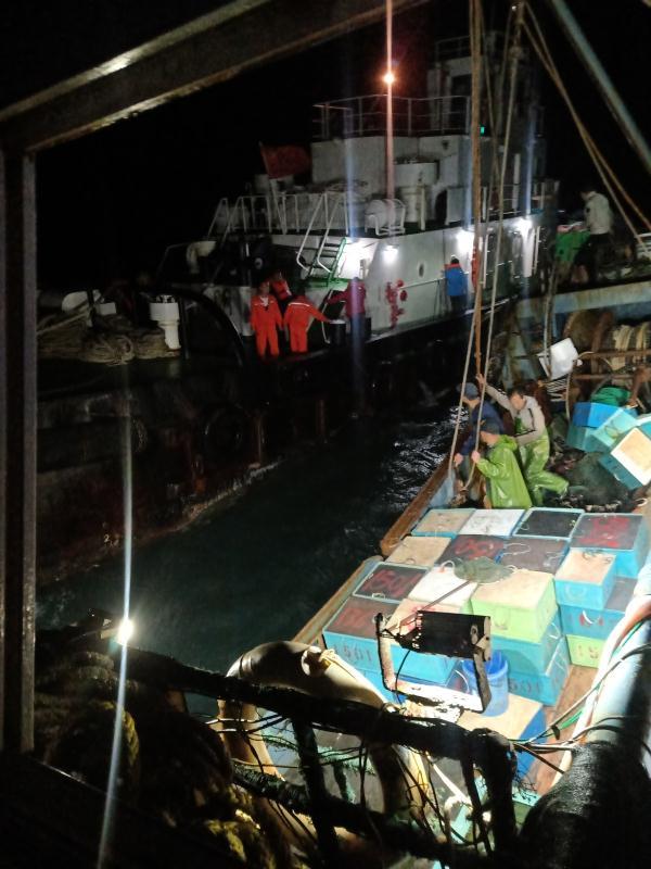 福建湄洲湾口水域一游艇沉没,救援人员顶七级大风救起4名船员