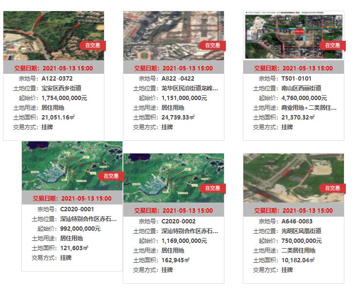 深圳推首批集中供地:6宗地总起始价近106亿,宝安区宅地吸睛