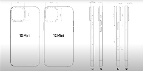iPhone 13屏幕再次确认采用LTPO:支持120Hz、设计图曝光机身尺寸