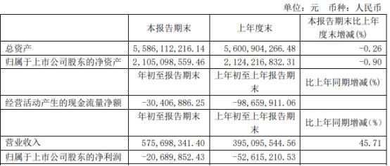 长春燃气股票:长春燃气2021年第一季度亏损2068