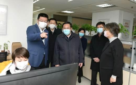 上海市委书记李强走进分众传媒 关心企业疫情防控工作和复工复岗情况