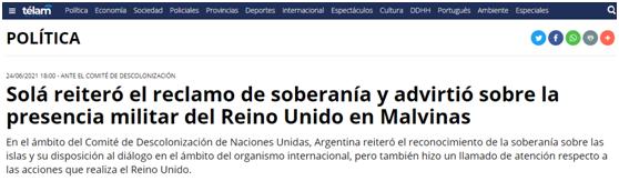 中方坚决支持阿根廷对马岛主权要求,阿外长表态!