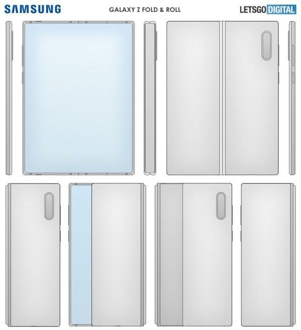 三星全新折叠屏手机专利公开 折叠屏卷轴屏合二为一!