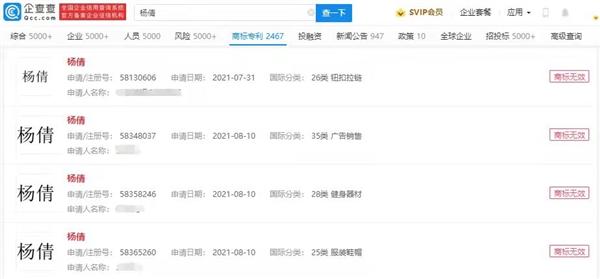 杨倩、全红婵商标已被正式驳回 此前被定性恶意抢注