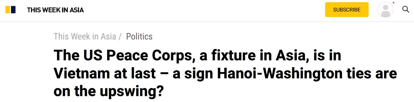 """经历17年谈判,美国""""和平队""""进驻越南,释放什么信号?"""