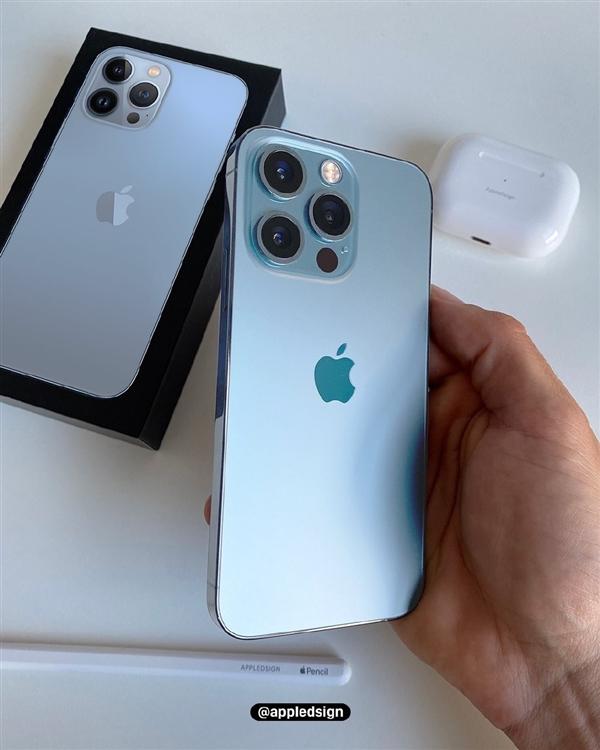 唯一能认出新机的配色!iPhone 13 Pro远峰蓝上手图曝光:更年轻化