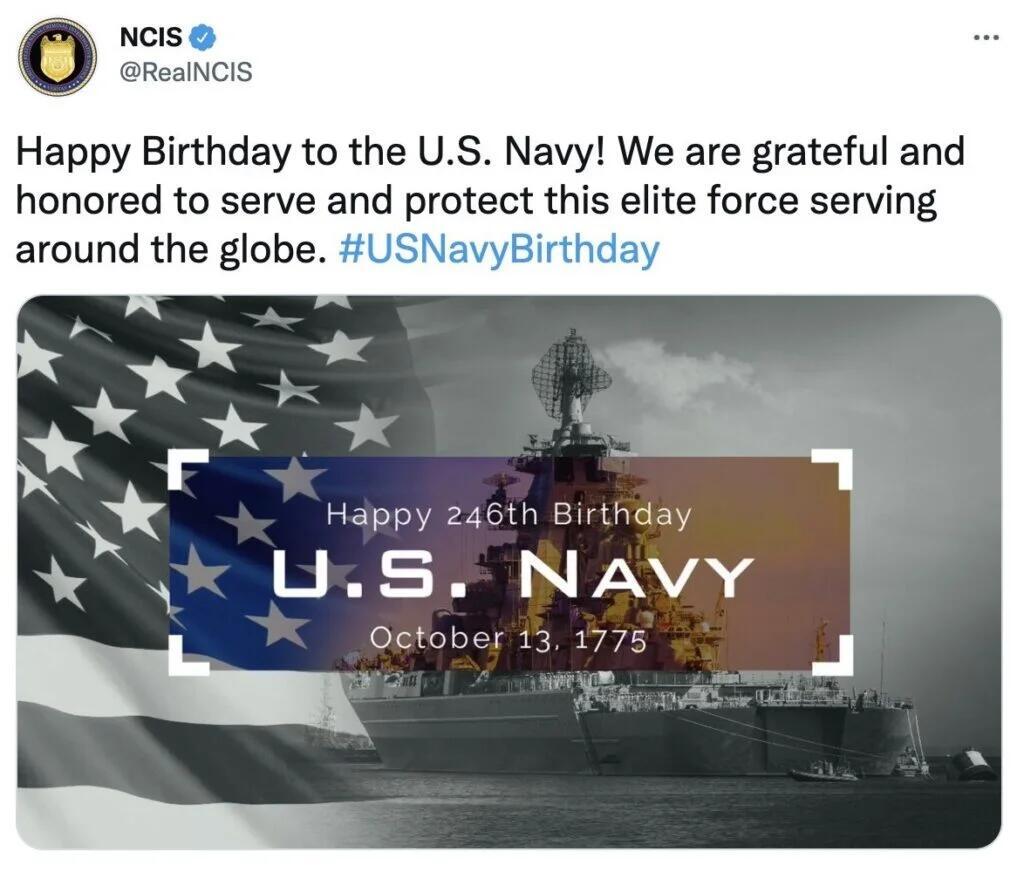 美国海军下属机构为海军庆生,海报里却把美国国旗和俄军巡洋舰搭在一起